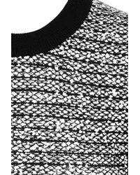 Alexander Wang | Gray Wool Blend and Rubberized Tweed Mini Dress | Lyst