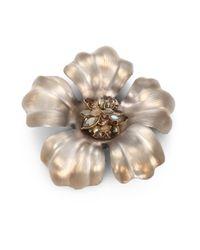 Alexis Bittar | Orange Lucite Pyrite Flower Pin | Lyst