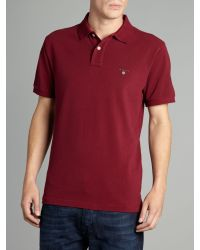 GANT Purple Classic Polo for men