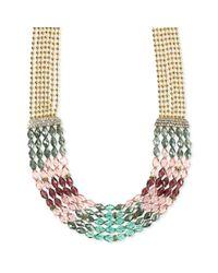 Jones New York | Multicolor Gold Tone Multi Chain Drama Collar Necklace | Lyst