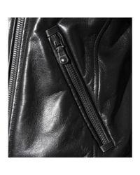 Miu Miu Black Leather Biker Jacket