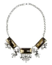 Noir Jewelry - Metallic Silverplated Crystal Necklace - Lyst