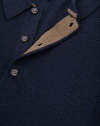 Ted Baker Blue Tonscot Merino Wool Polo for men
