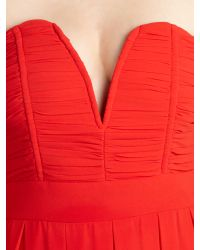 TFNC London Red Strapless Maxi Dress