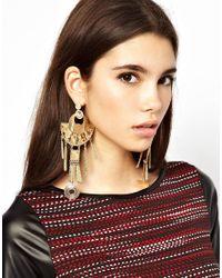 ASOS - Metallic Modern Aztec Earrings - Lyst