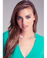 Bebe Pink Open Collar Stone Necklace