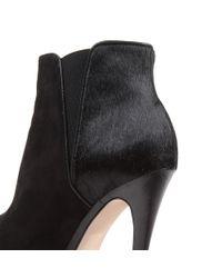 Carvela Kurt Geiger Black Carvela Sliver Pony Ankle Boots