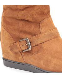 Carvela Kurt Geiger Brown Carvela Warm Suede Knee-high Boots