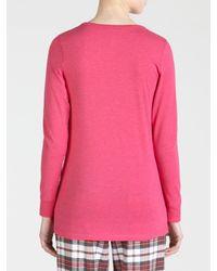 DKNY Pink Bright Long Sleeve Pyjama Top