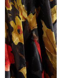 Duro Olowu Black Printed Devoré Silksatin Gown