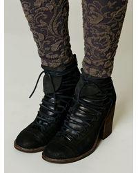 Free People - Black Painted Bird Western Boot - Lyst
