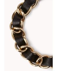 Forever 21 Black Edgy Curb Chain Necklace