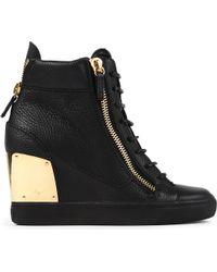 Giuseppe Zanotti Black Mid-top Patent Leather Trainers