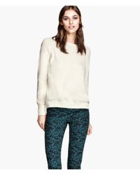 H&M White Knitted Jumper
