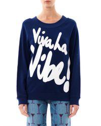 House of Holland Blue Viva La Vibe Sweatshirt