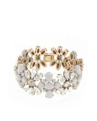 J.Crew | White Coated Stone Stripe Bracelet | Lyst