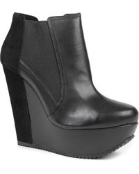 KG by Kurt Geiger Black Stanley Suede and Leather Ankle Boots