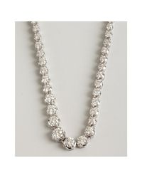 Kwiat - White Gold and Diamond Riviera Necklace - Lyst