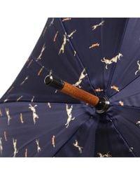 London Undercover | Blue Doublelayered Dog Print Umbrella | Lyst