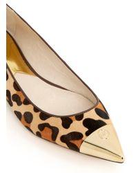 Michael Kors Brown Paxton Toecap Leopard-print Flats