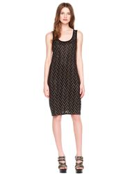 MICHAEL Michael Kors | Black Studded Longsleeve Dress | Lyst