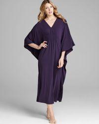 Natori Purple Jersey Caftan
