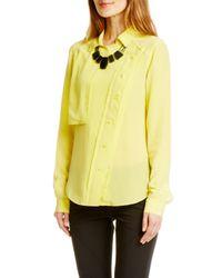 Rebecca Minkoff Yellow Long Sleeve Pilot Top