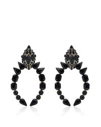 Roberto Cavalli | Gray Swarovski Snake Head Earrings | Lyst