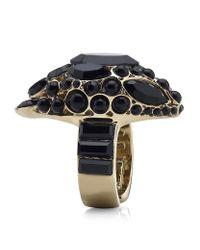 Roberto Cavalli Metallic Swarovski Snake Head Ring