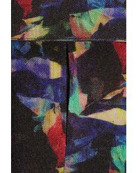 Saloni Blue Printed Wool Jumpsuit