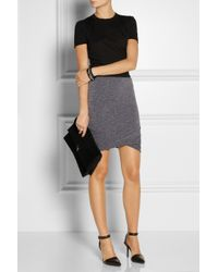 T By Alexander Wang Gray Ruched Jersey Mini Skirt