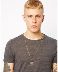 Cheap Monday - Metallic Afends Cat Necklace for Men - Lyst