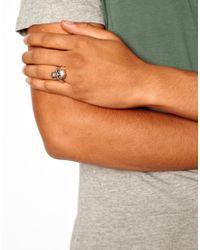 Replay - Metallic Afends Skull Ring for Men - Lyst