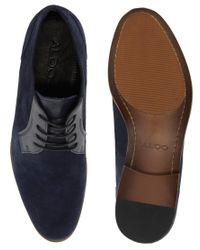 ALDO Blue Waylin Suede Shoes for men