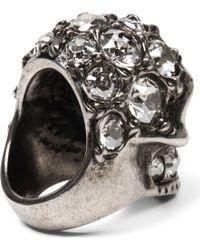 Alexander McQueen | Metallic Victorian Jeweled Skull Ring | Lyst