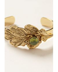 Anthropologie - Green Jeweled Fauna Cuff - Lyst