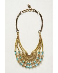 Anthropologie - Metallic Armature Layered Necklace - Lyst