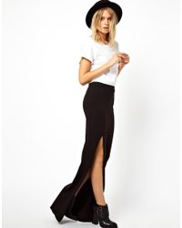 ASOS Black Maxi Skirt with Thigh High Split