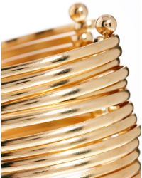 ASOS Metallic Multi Bar Cuff Bracelet