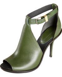 Balenciaga Green Ankle Strap Glove Sandal