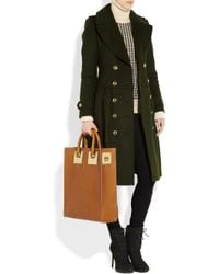 Burberry Green Wool and Cashmere Blend Trench Coat