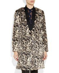 By Malene Birger White Scarlettes Leopard print Faux Fur Coat