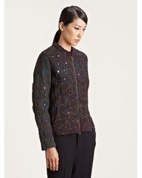 By Walid Black Womens Uzbeki Mirror Jacket