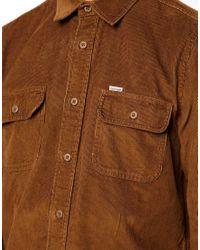 Carhartt Brown Shirt Job Cord 2 Pocket for men