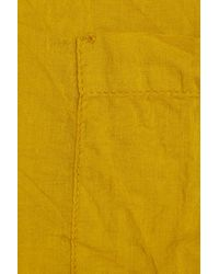Chinti & Parker Yellow Cotton-voile Top