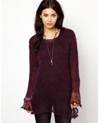 DIESEL Purple Fine Knit Jumper