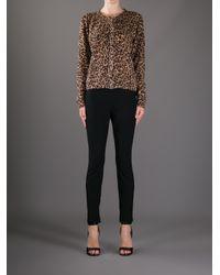 Dolce & Gabbana Brown Leopard Print Cardigan