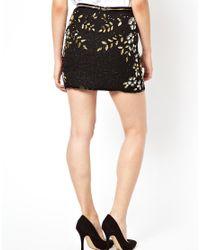 Dress Gallery Black Sequins Skirt
