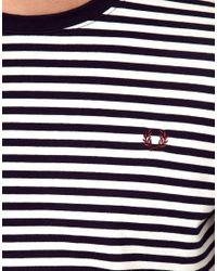 Fred Perry Blue Stripe Long Sleeve Tshirt for men
