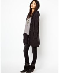 Free People Gray Hooded Coatigan with Toggles